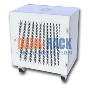 """Tủ mạng,Tủ Rack Cabinet 10U-D500 Tower/Wallmount - Dana Rack 10U500 - Mã sản phẩm: DANA RACK 10U-D500 - Kích thước thực: (HxWxD) H560xW550xD500mm - Kiểu dáng: Chân đứng 04 bánh xe / Treo tường - Hệ thống cửa trước: Lưới / Mica - Phụ kiện: 1 x Fan 220v; Ổ điện 03 chấu chuẩn Đa dụng. - Màu sắc: Đen / Trắng -Tiêu chuẩn : Tương thích các thiết bị tiêu chuẩn 19"""" EIA-310D"""