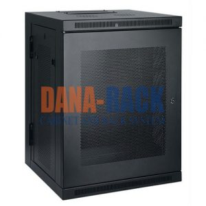 """Tủ mạng , Tủ Rack SYSTEM CABINET 12U-D400 - Dana Rack 12U400 - Mã sản phẩm: DANA RACK 15U400 - Kích thước thực: (HxWxD) H680xW550xD400mm - Net Weight: 35 Kg - Kiểu dáng: 4 bánh xe - Hệ thống cửa: Lưới / Mica - Phụ kiện: 1 x Fan 220v; Ổ điện 03 chấu chuẩn Đa dụng. - Màu sắc: Đen / Trắng -Tiêu chuẩn : Tương thích các thiết bị tiêu chuẩn 19"""" EIA-310D"""