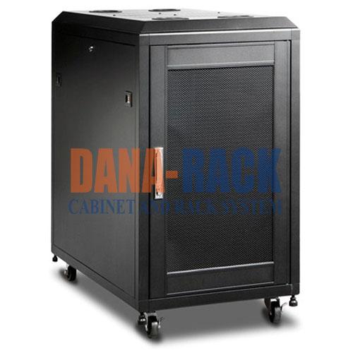 """Tủ mạng,Tủ Rack SYSTEM CABINET 15U-D600 - Dana Rack 15U600 - Mã sản phẩm: DANA RACK 15U600 - Kích thước thực: (HxWxD) H810xW550xD800mm - Kiểu dáng: 4 bánh xe - Hệ thống cửa: Lưới  - Phụ kiện: 1 x Fan 220v; Ổ điện 03 chấu chuẩn Đa dụng. - Màu sắc: Màu ghi -Tiêu chuẩn : Tương thích các thiết bị tiêu chuẩn 19"""" EIA-310D"""