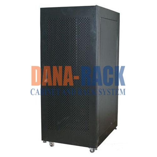 """Tủ mạng, Tủ Rack SYSTEM CABINET 20U-D600 - Dana Rack 20U600 - Mã sản phẩm: DANA RACK 20U600 - Kích thước thực: (HxWxD) H1000xW590xD600mm - Kiểu dáng: 4 bánh xe - Hệ thống cửa trước: Lưới / Mica - Phụ kiện: 2 x Fan 220v; Ổ điện 06 chấu chuẩn Đa dụng. - Màu sắc: Đen / Trắng -Tiêu chuẩn : Tương thích các thiết bị tiêu chuẩn 19"""" EIA-310D"""