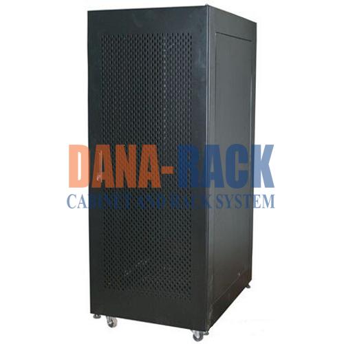 """Tủ mạng,Tủ Rack SYSTEM CABINET 27U-D800 - Dana Rack 27U800 - Mã sản phẩm: DANA RACK 27U800 - Kích thước thực: (HxWxD) H1420xW600xD800mm - Kiểu dáng: 4 bánh xe và chân tăng - Hệ thống cửa trước: Lưới / Mica - Phụ kiện: 2 x Fan 220v; Ổ điện 06 chấu chuẩn Đa dụng. - Màu sắc: Đen / Trắng -Tiêu chuẩn : Tương thích các thiết bị tiêu chuẩn 19"""" EIA-310D"""