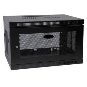 """Tủ mạng , Tủ Rack 6U-D400 Wallmount – Dana rack 6U400 - Mã sản phẩm: DANA RACK 6U - Kích thước thực: (HxWxD) H320xW560xD400mm - Kiểu dáng: Treo tường , có bánh xe - Hệ thống cửa: Lưới - Phụ kiện: 1 x Fan 220v; Ổ điện 03 chấu chuẩn Đa dụng. - Màu sắc: Ghi , đen -Tiêu chuẩn : Tương thích các thiết bị tiêu chuẩn 19"""" EIA-310D"""
