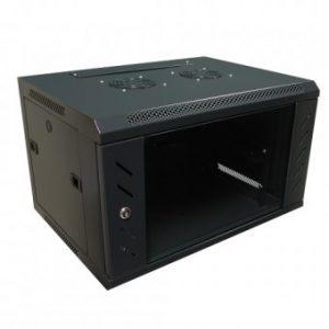 """Tủ mạng , Tủ Rack 6U-D400 Wallmount – Dana rack 6U400 - Mã sản phẩm: DANA RACK 6U - Kích thước thực: (HxWxD) H320xW560xD400mm - Kiểu dáng:Treo tường, bánh xe - Hệ thống cửa: Lưới - Phụ kiện: 1 x Fan 220v; Ổ điện 03 chấu chuẩn Đa dụng. - Màu sắc: Đen -Tiêu chuẩn : Tương thích các thiết bị tiêu chuẩn 19"""" EIA-310D"""